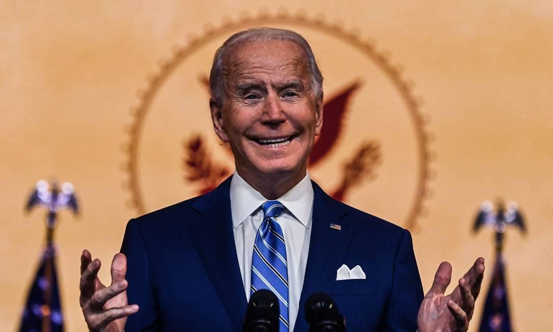 O president eleito Joe Biden Foto: CHANDAN KHANNA / AFP