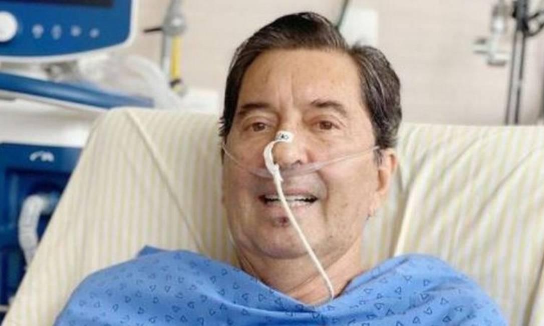 Maguito Vilela no hospital, há duas semanas, antes da segunda intubação. Foto: REPRODUÇÃO/INSTAGRAM