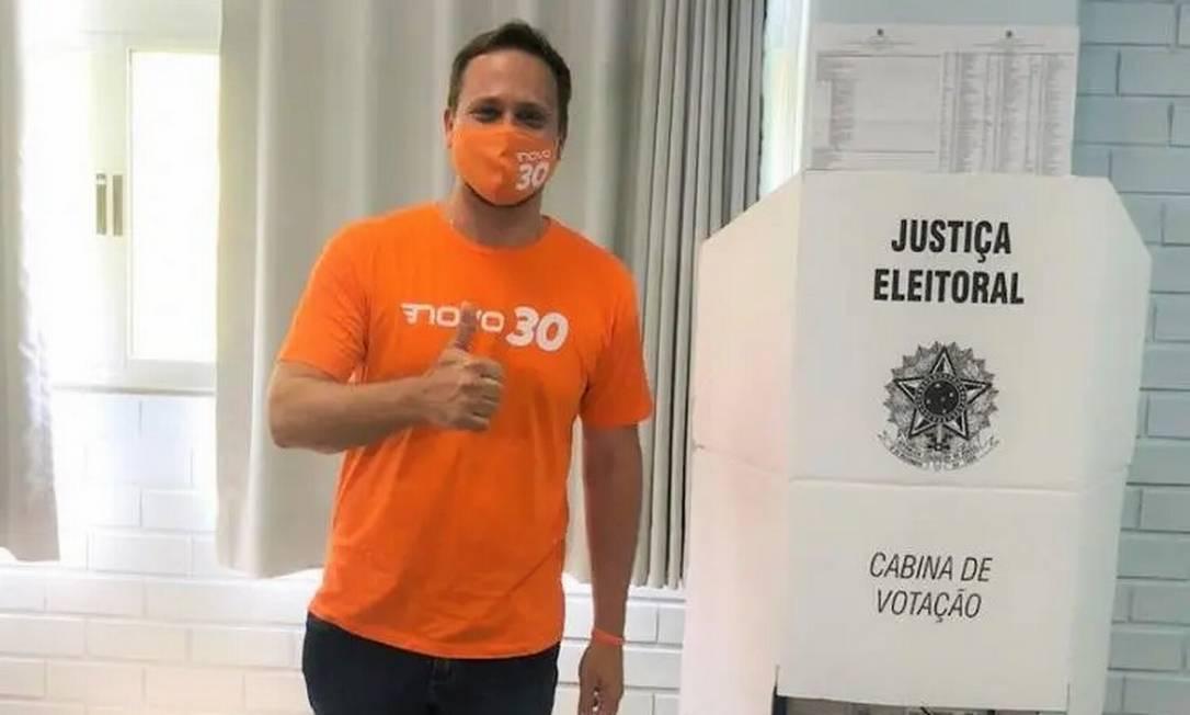 Candidato do Novo surpreendeu ao avançar para o segundo turno Foto: Reprodução