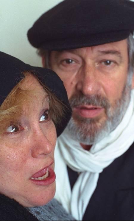 Nicette Bruno e Paulo Goulart Foto: Leonardo Aversa / Agência O Globo - 09/05/1991