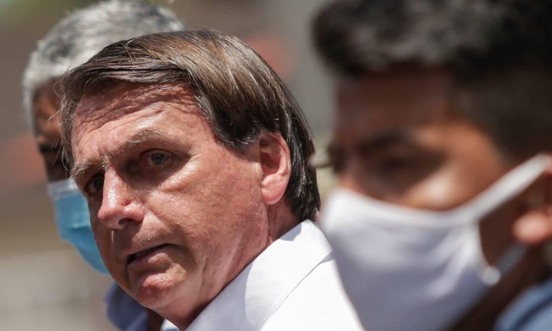 O presidente Jair Bolsonaro, após votar no Rio de Janeiro Foto: André Coelho/AFP/28-11-2020