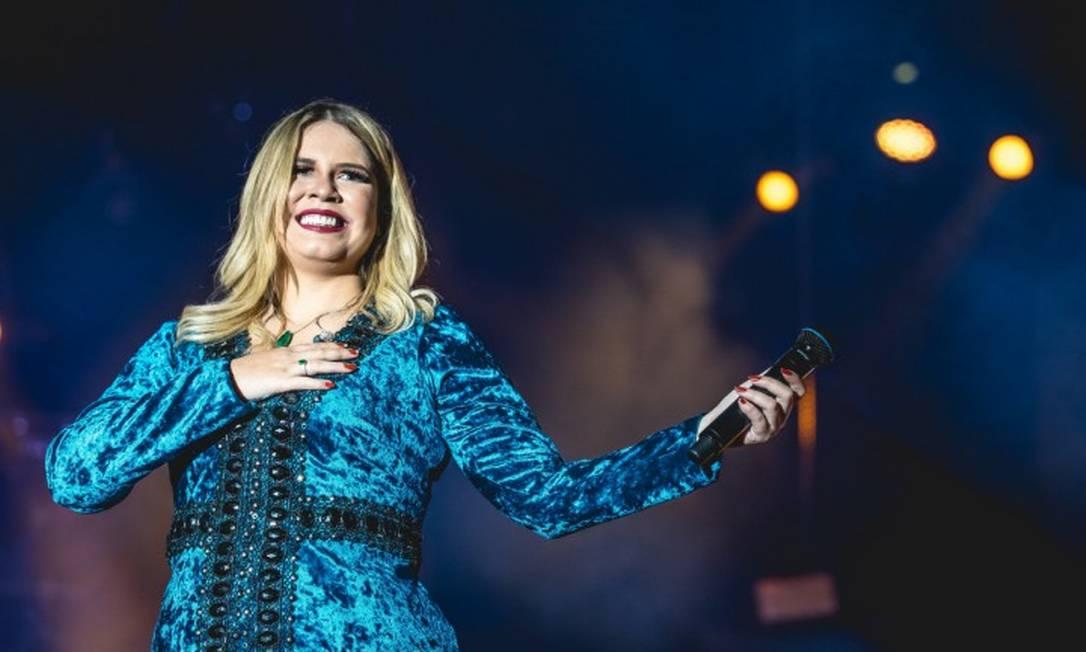 Cantora Marília Mendonça lidera pelo segundo ano consecutivo a lista dos mais ouvidos pelo SPotify, no Brasil. Foto: Infoglobo