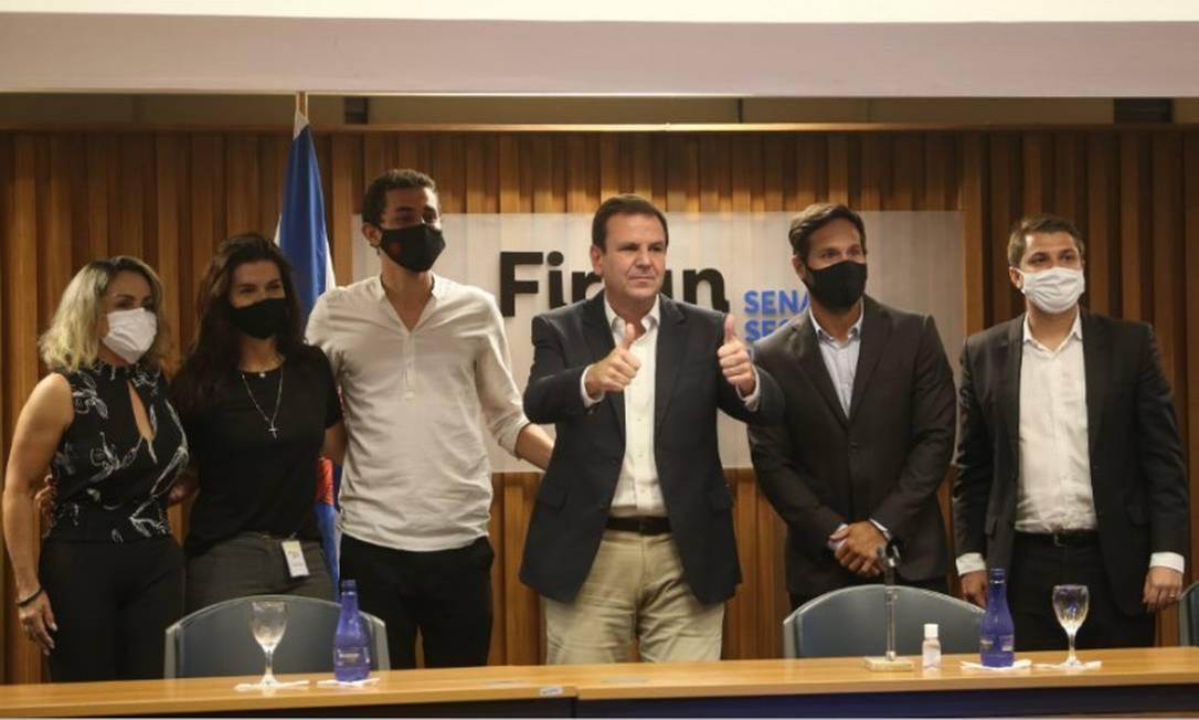 O prefeito eleito Eduardo Paes apresenta novos integrantes do secretariado Foto: Pedro Teixeira / Agência O Globo