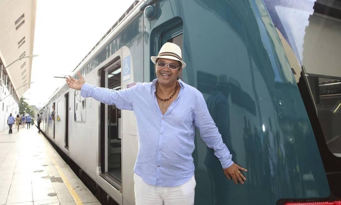 Marquinhos de Oswaldo Cruz recebe convidados em live na Quadra da Portela para seguir viagem no Trem do Samba sem aglomerar Foto: Divulgação