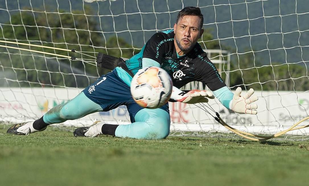 Diego Alves tem contrato até 31/12 Foto: Divulgação