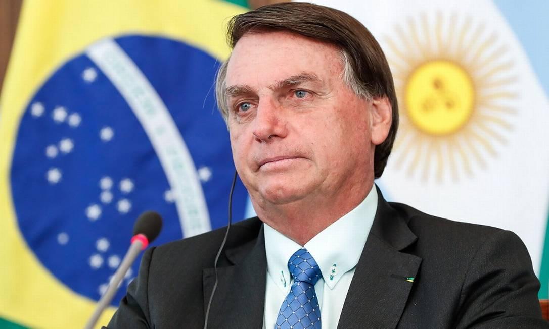 O presidente Jair Bolsonaro: sem Renda Brasil este ano Foto: ALAN SANTOS / AFP