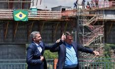 Bolsonaro e o presidente do Paraguai Mario Abdo Benitez Foto: NORBERTO DUARTE / AFP
