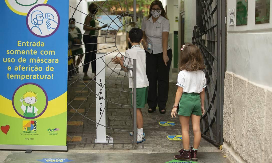 Falta de certeza sobre eficiência de testes rápidos em crianças pode atrapalhar discussão sobre retorno às aulas presenciais Foto: Márcia Foletto / Agência O Globo 15-09-2020
