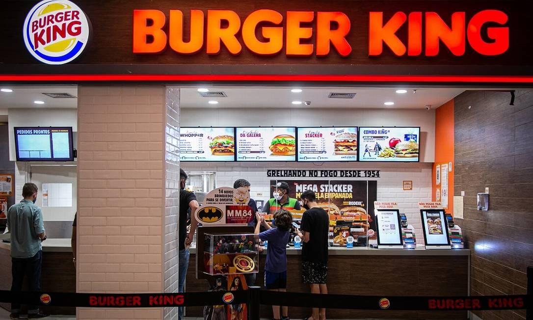 Burger King: estudo cuidadoso do mercado nacional Foto: Hermes de Paula / Agência O Globo