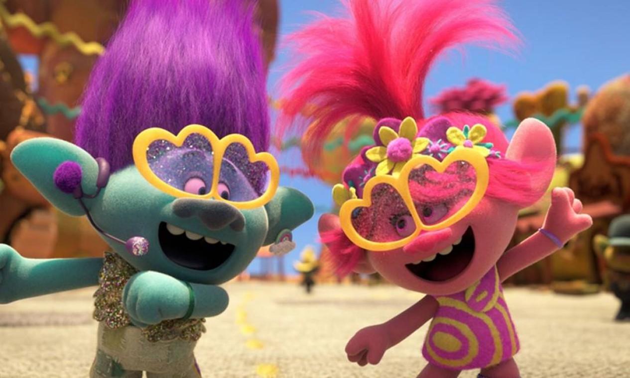 Cena da animação 'Trolls 2' Foto: Divulgação