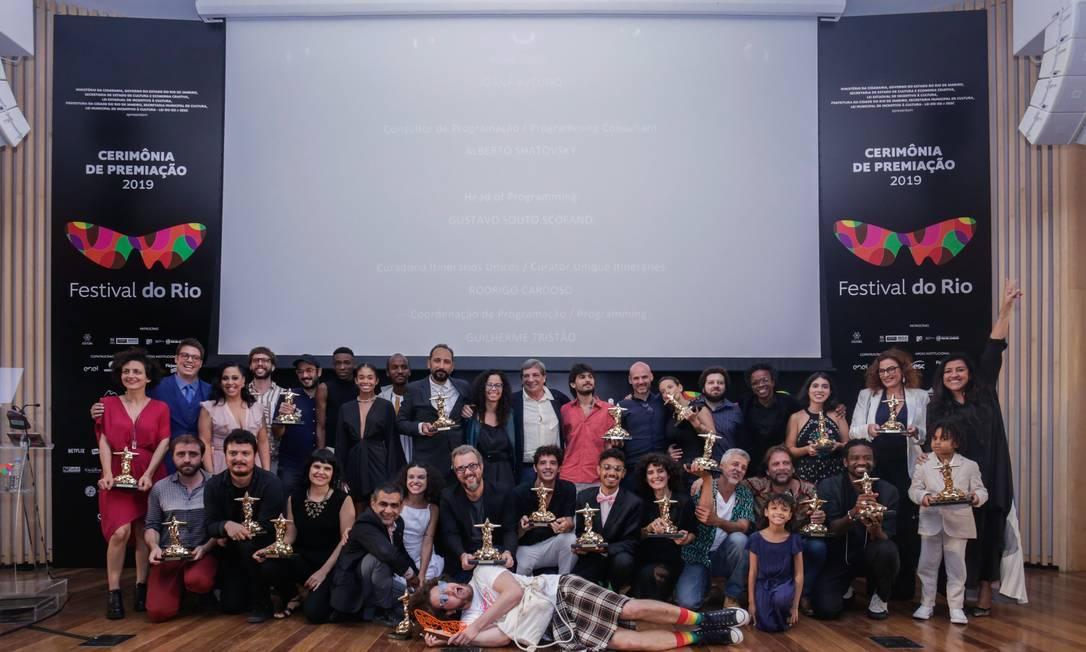 Cerimônia de premiação do Festival do Rio em 2019. Foto: Rogerio Resende/R2Foto / Divulgação
