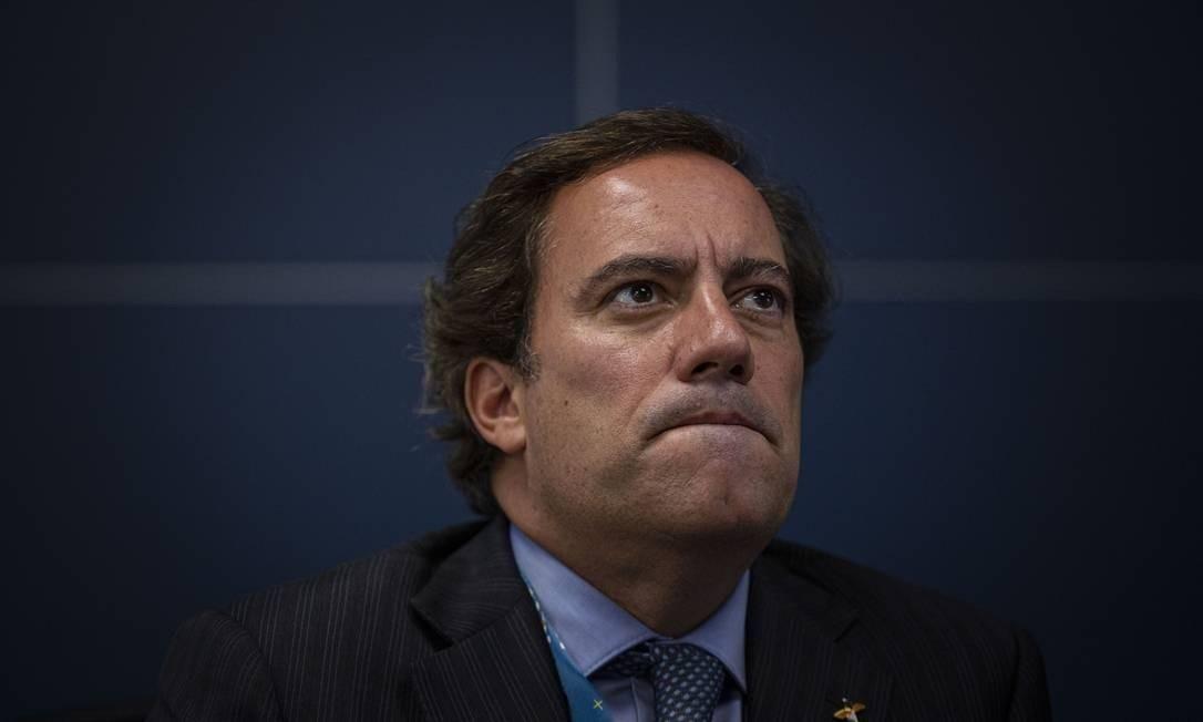 Pedro Guimarães, presidente da Caixa Econômica Federal Foto: Daniel Marenco/Agência O Globo