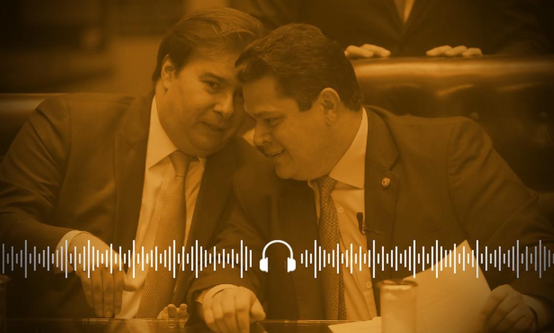 Maia e Alcolumbre esperam decisão do STF para acelerar articulação para disputa no Legisaltivo Foto: Arte