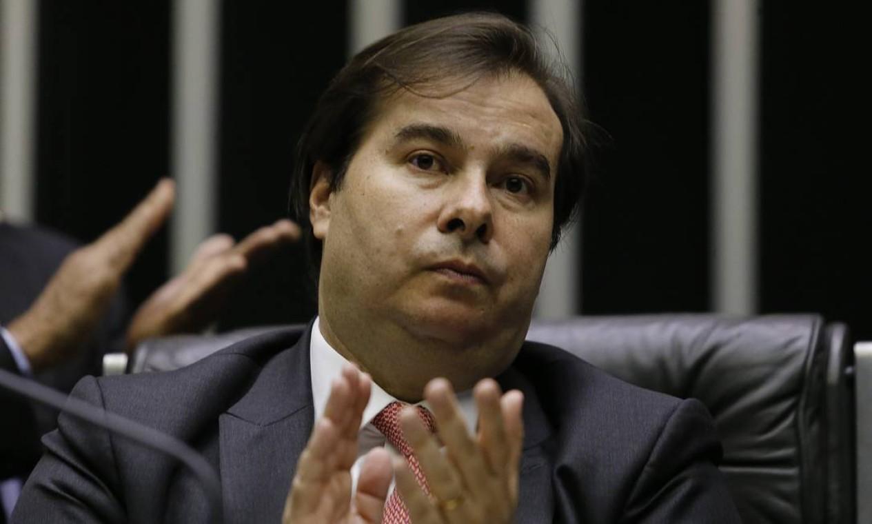 Atual presidente da Câmara dos Deputados, Rodrigo Maia (DEM-RJ), comanda a Casa desde 2016 Foto: Jorge William / Agência O Globo
