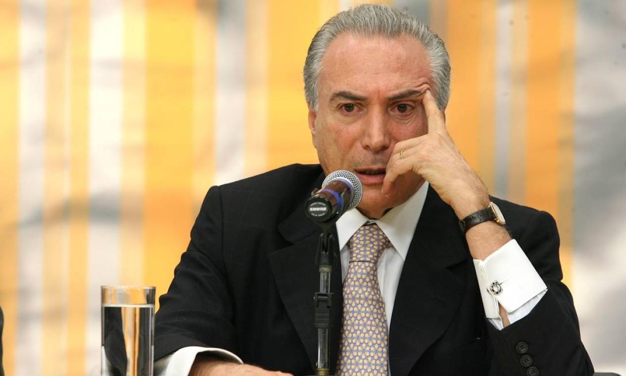 Michel Temer (PMDB-SP) - presidiu a Casa, pela segunda vez, de 2009 a 2010 Foto: Ailton de Freitas / Agência O Globo