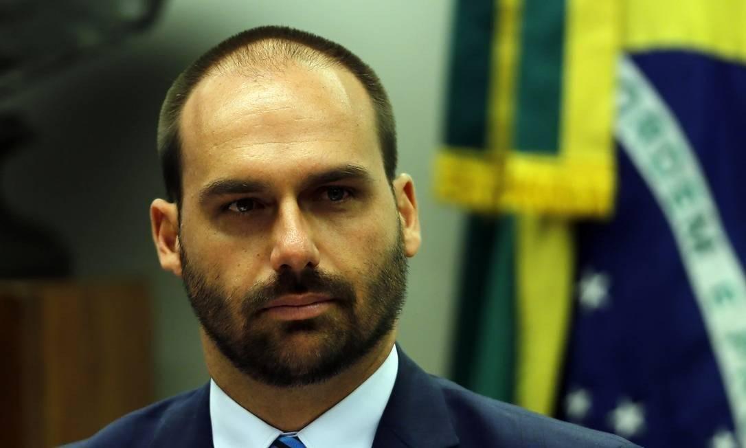 Eduardo Bolsonaro Foto: Jorge William / Agência O Globo