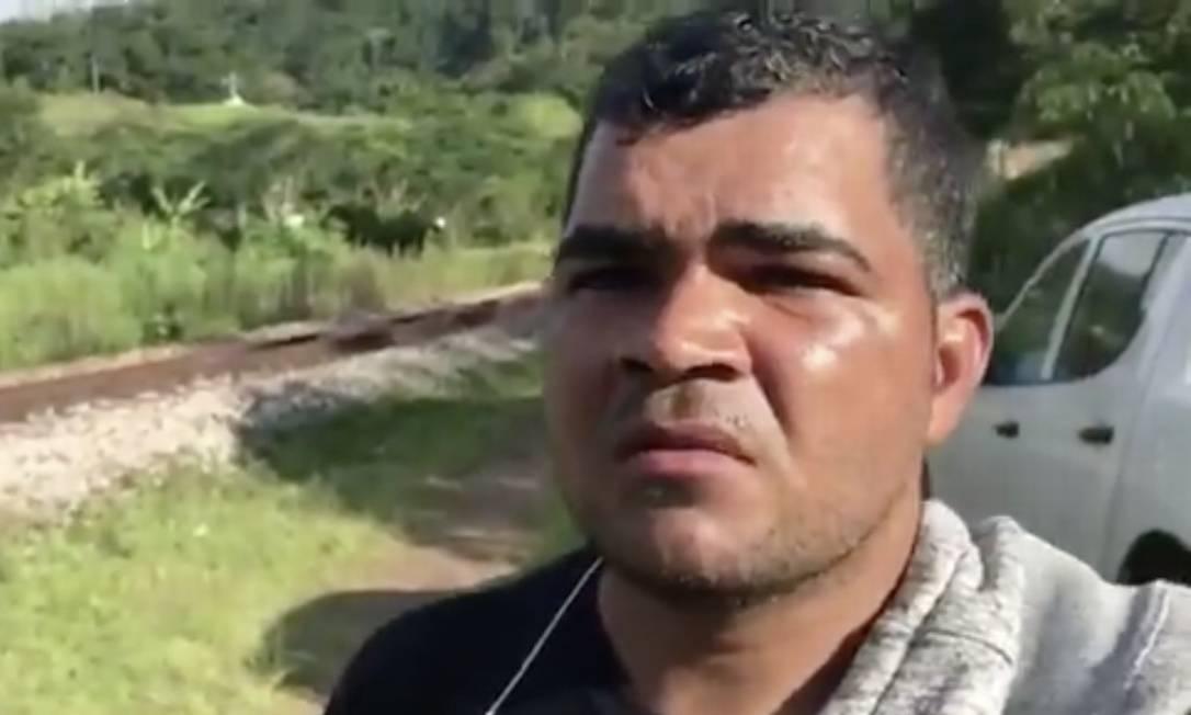 Cícero Lima: sobrevivente de acidente Foto: Reprodução