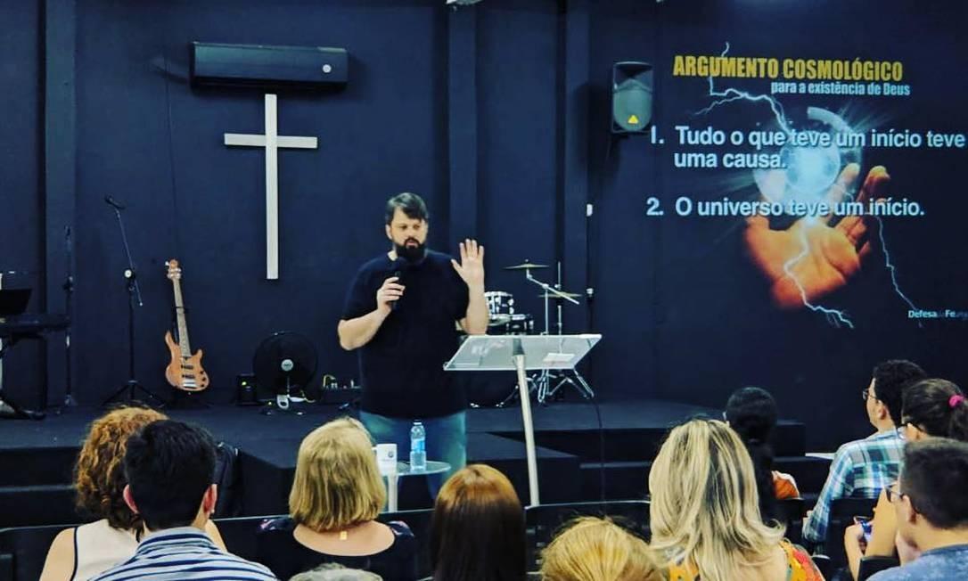 Tassos Lycurgo, em pregação na igreja Defesa da Fé Foto: Reprodução/Redes Sociais