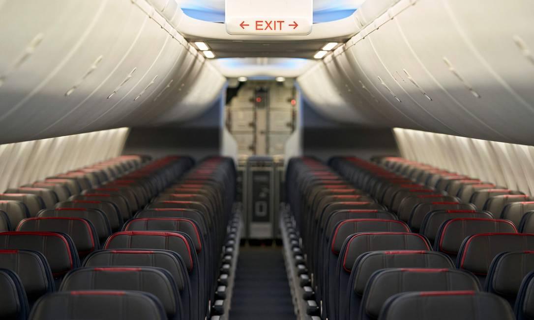 Interior de um Boeing 737 Foto: COOPER NEILL / AFP