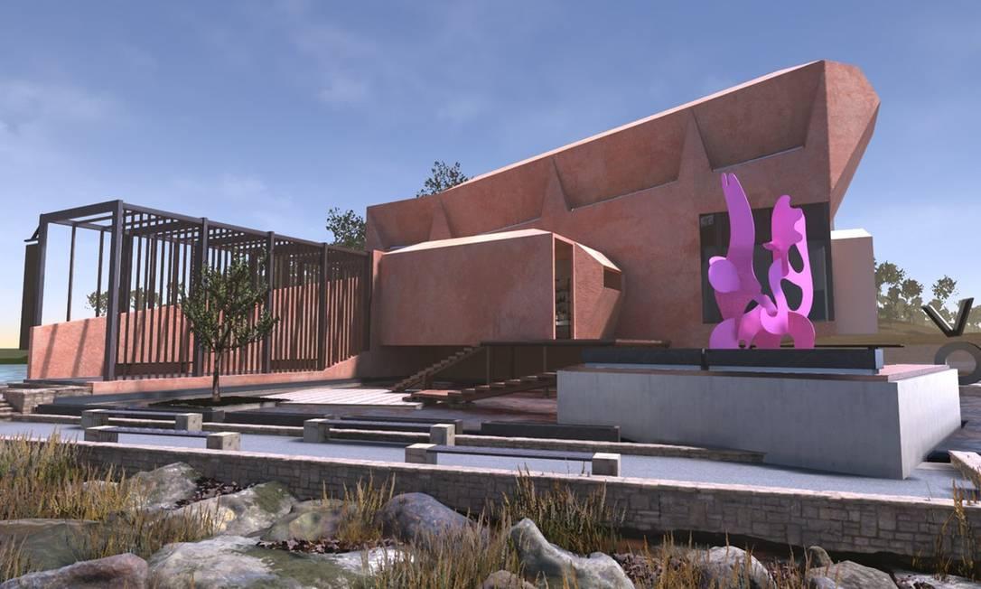 O prédio do Virtual Museum of Art, o primeiro museu totalmente digital do mundo Foto: Divulgação