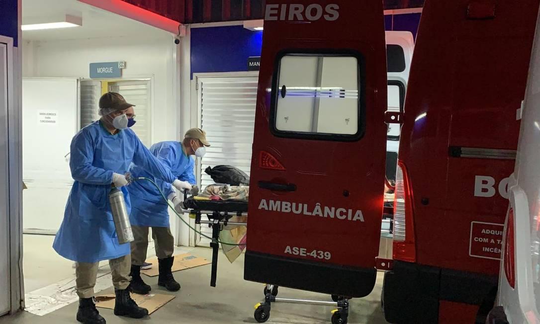 Operação de transferência de menino com Covid-19 no estado do Rio Foto: Divulgação