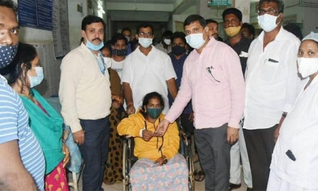 Até agora, exames descartaram relação entre covid-19 e onda de hospitalizações na Índia Foto: Reprodução