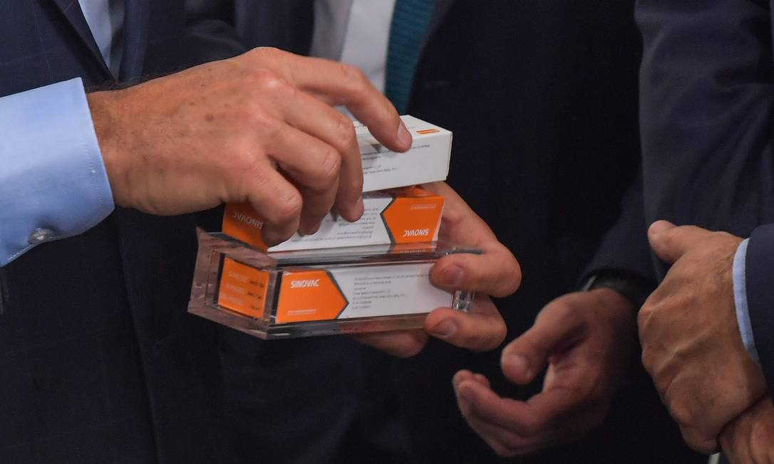 Dois lotes da CoronaVac chegaram a São Paulo em dezembro Foto: NELSON ALMEIDA / AFP