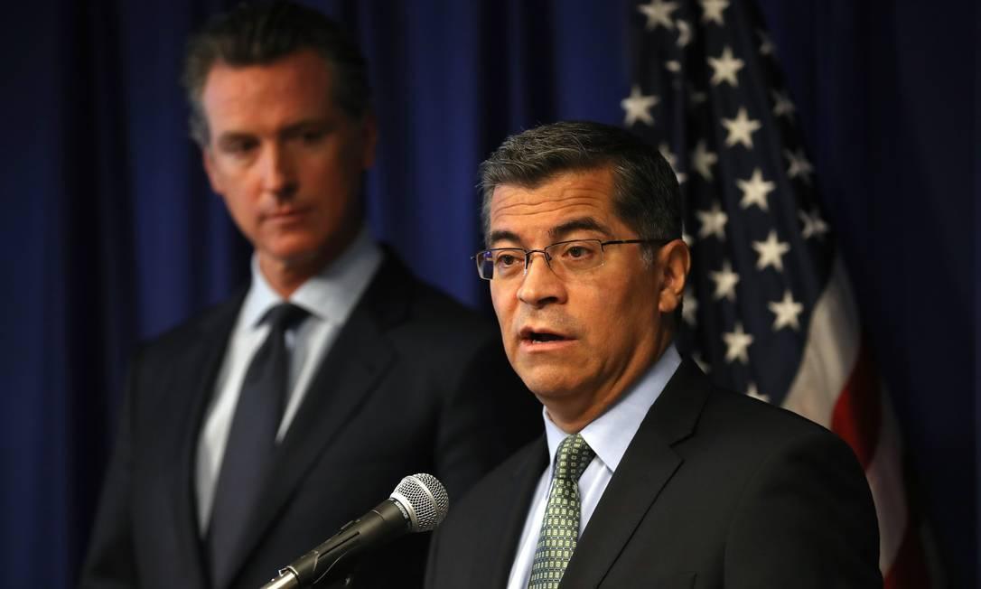 O procurador-geral da Califórnia, Xavier Becerra, será o primeiro a chefiar a Secretaria de Saúde e Direitos Humanos nos EUA Foto: Justin Sullivan / AFP