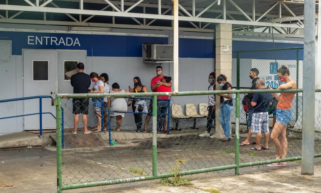 UPA de Campo Grande: não há mais leitos na unidade Foto: Brenno Carvalho / Agência O Globo