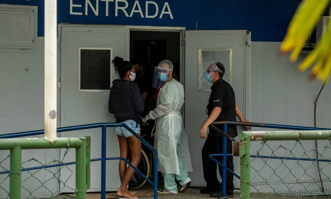 Entrada da UPA de Campo Grande, na Zona Oeste do Rio. Foto: Brenno Carvalho / Agência O Globo