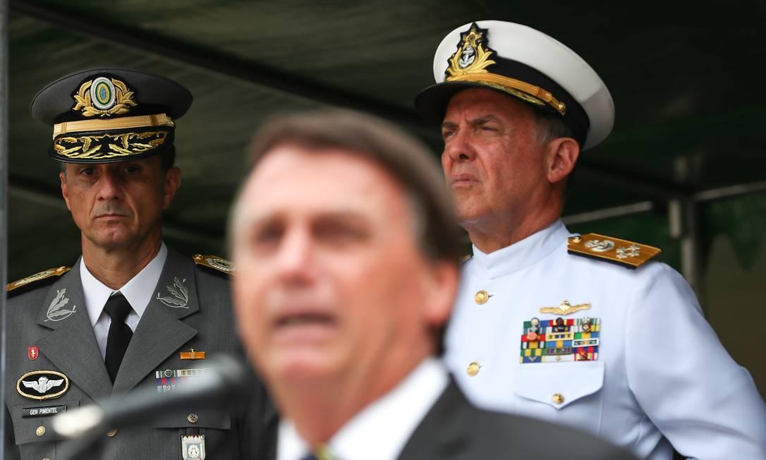 Jair Bolsonaro discursa em cerimônia militar em Resende (RJ) Foto: Marcos Correa/PR