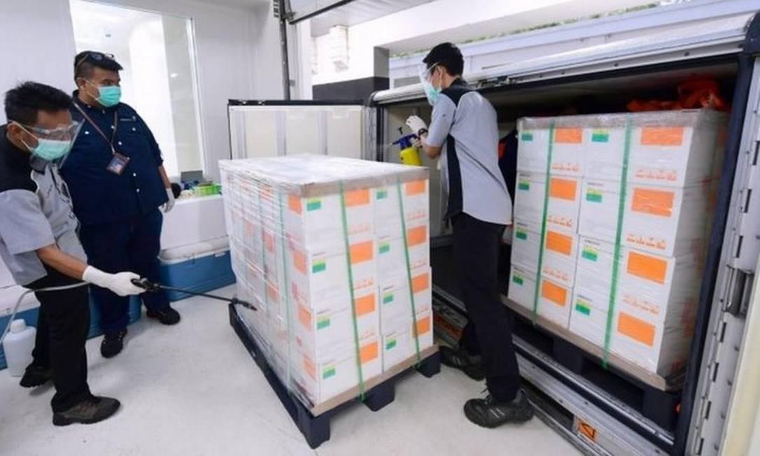 A Indonésia vai receber 3 milhões de doses da CoronaVac até janeiro Foto: Reuters