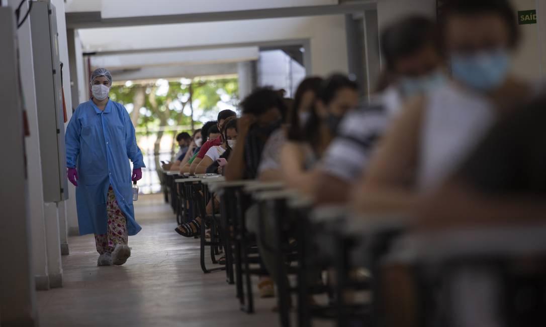 Centro de Pesquisa de Resistência e Testagem da UFRJ, bloco N, onde são feitos estudos sobre reinfecção da Covid-19 Foto: Gabriel Monteiro / Agência O Globo