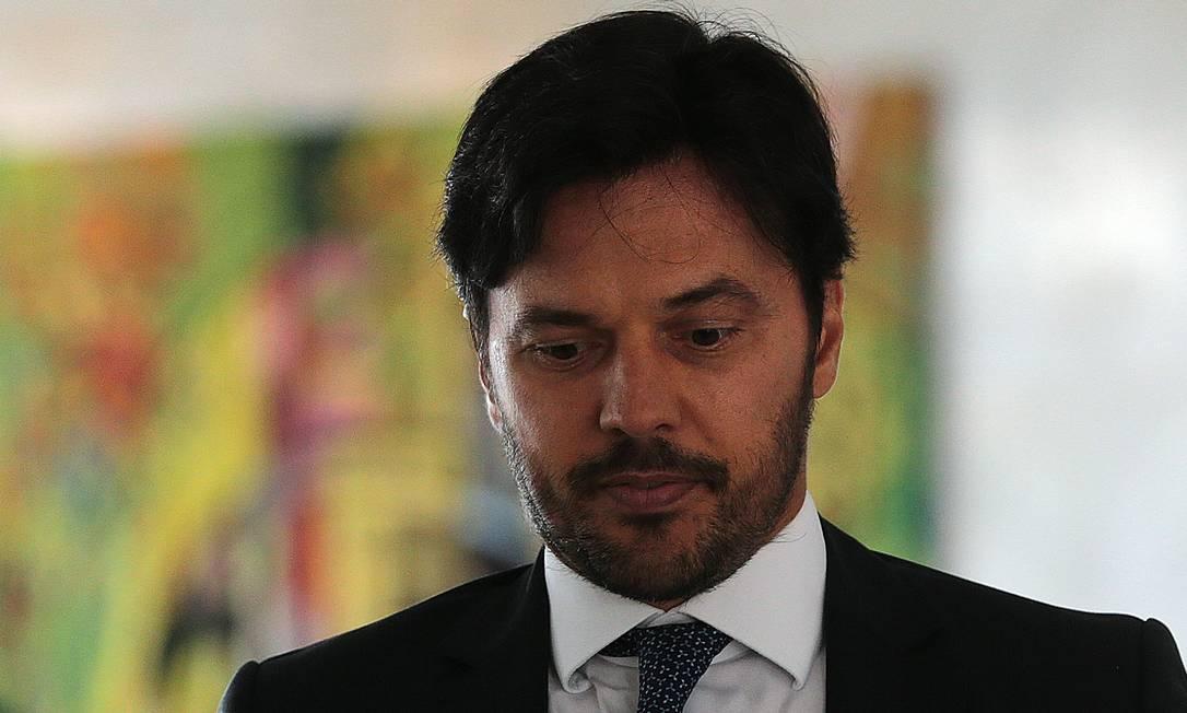 O ministro das Comunicações, Fábio Faria. Ele recebeu as principais empresas de telecomunicações para discutir o leilão do 5G Foto: Jorge William / Agência O Globo