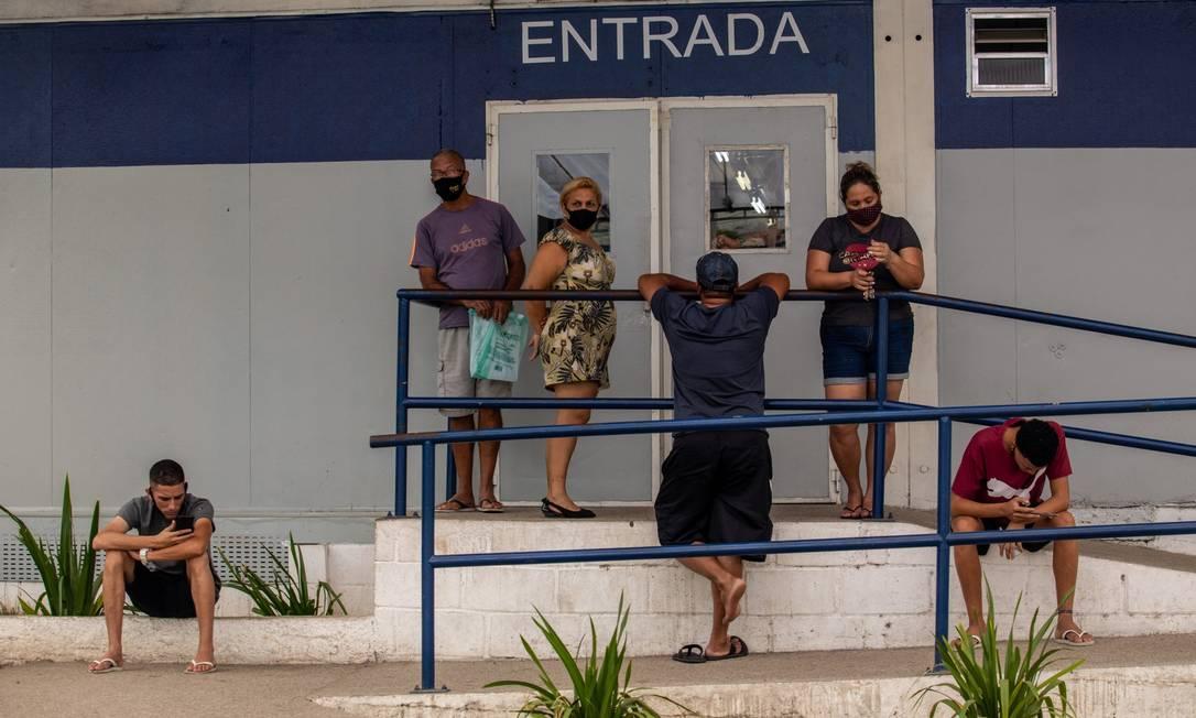 Movimento intenso em UPA da Zona Oeste 08-12-2020 Foto: Brenno Carvalho / Agência O Globo