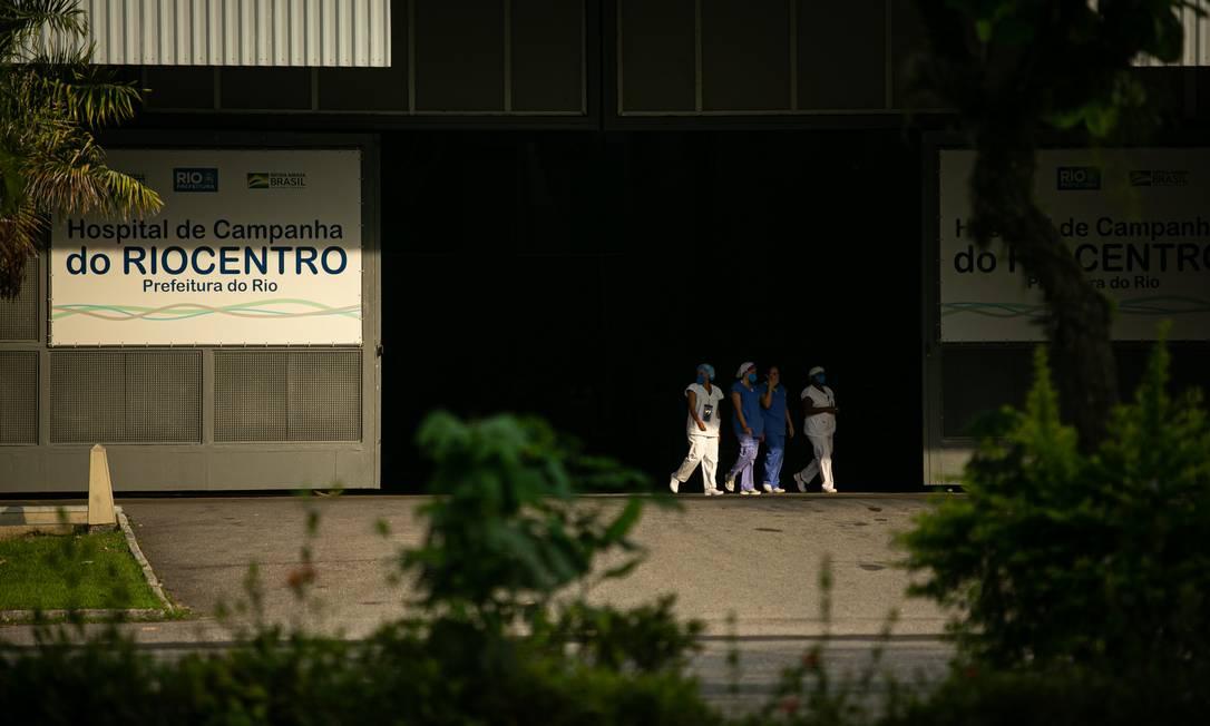 Hospital de Campanha no Riocentro Foto: Hermes de Paula em 28-09-2020 / Agência O Globo