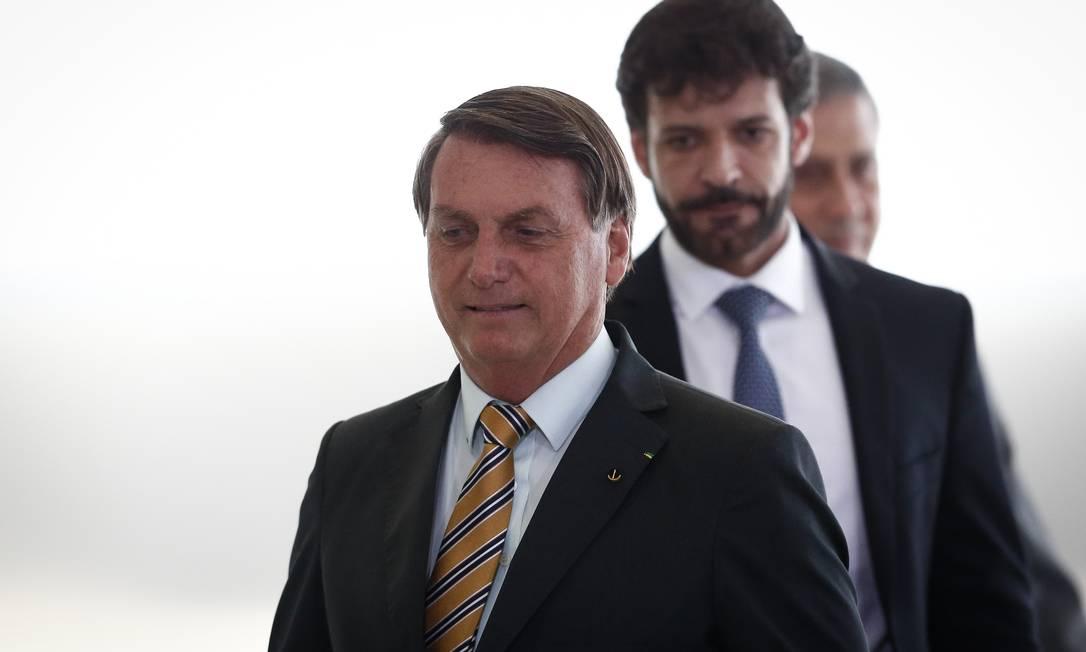 Presidente Jair Bolsonaro e Marcelo Álvaro Antônio, que foi demitido do Ministério do Turismo nesta quarta-feira Foto: Pablo Jacob / Agência O Globo