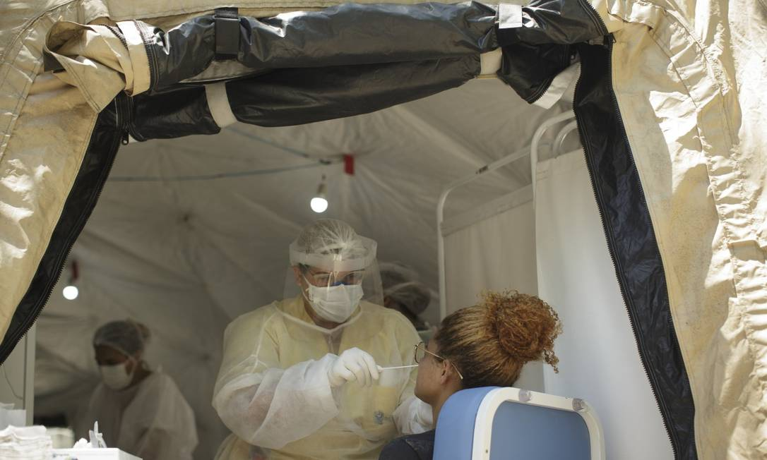 Testagem de Covid-19 feita pelo governo em São Gonçalo na semana passada Foto: Márcia Foletto em 4-12-2020 / Agência O Globo