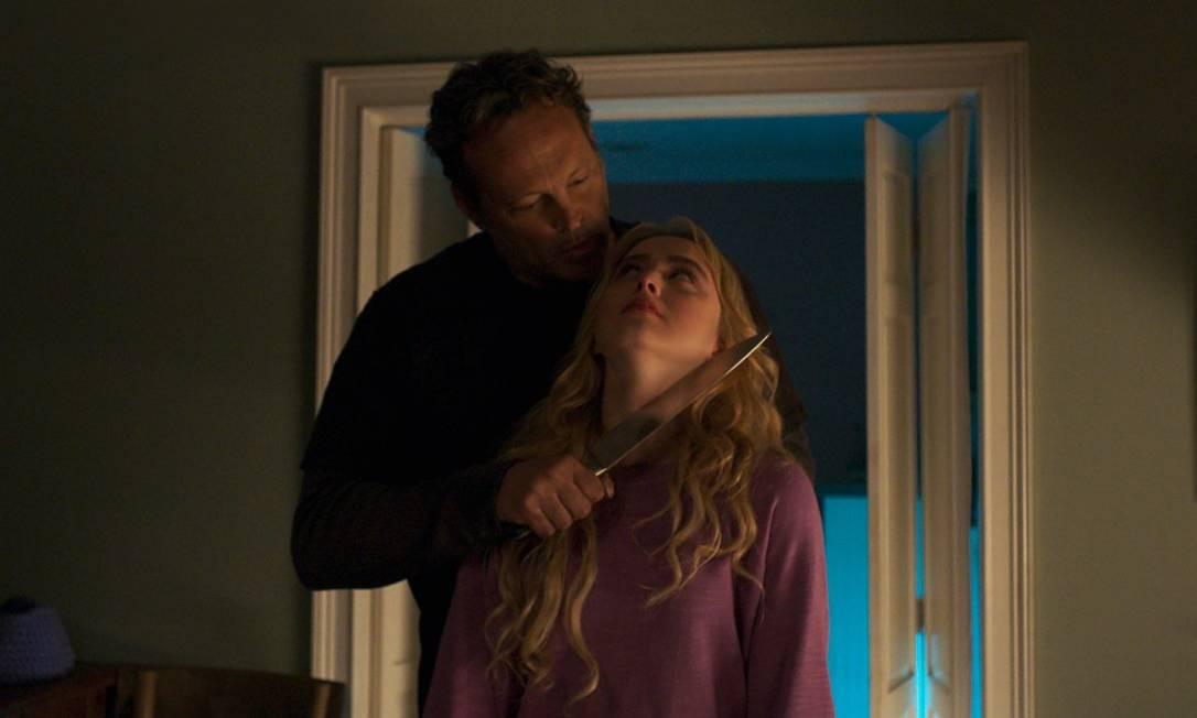 """Vince Vaughn e Kathryn Newton em """"Freaky - No corpo de um assassino"""" Foto: Divulgação/Universal Pictures"""