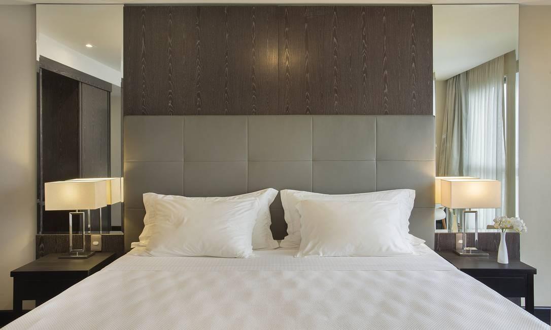 Cama de um hotel da rede Windsor: governanta executiva do grupo dá dicas de como deixar seu quarto no padrão 'cinco estrelas' Foto: Divulgação