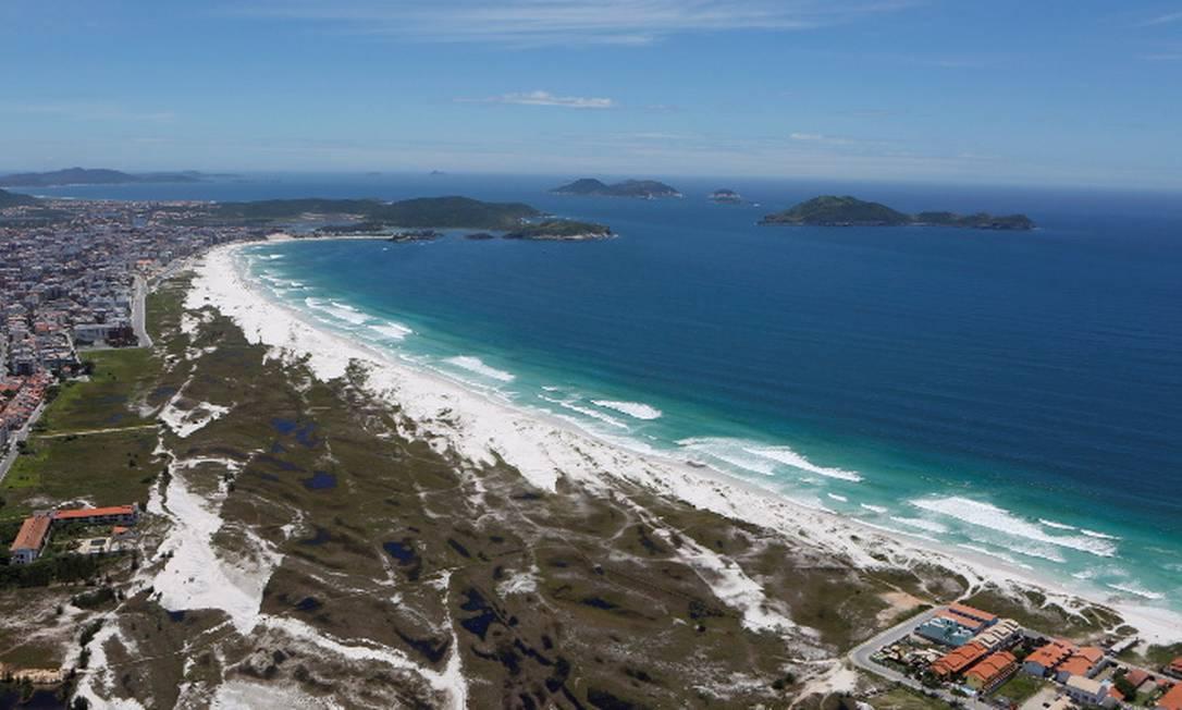 Praia do Forte, em Cabo Frio Foto: Agência O GLOBO
