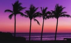 Pôr do sol na Praia da Vila, em Saquarema Foto: Banco de Imagens
