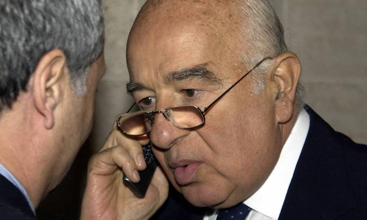 Banqueiro e fundador do banco Safra, Joseph Safra morreu de causas naturais, aos 82 anos Foto: Pascal Guyot / AFP