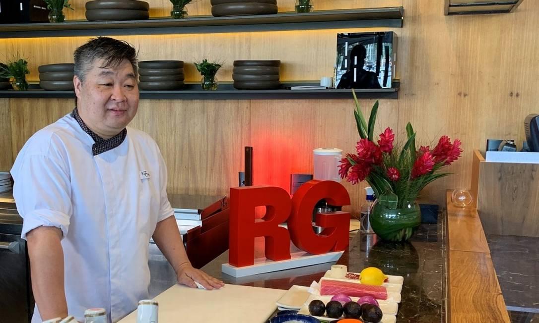 Nao Hara: na aula em vídeo, o chef do Kitchen Asian Food ensina a preparar tartare de atum com sorvete de avocado Foto: divulgação