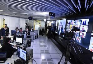 Sessão virtual do Senado Foto: Waldemir Barreto / Agência Senado