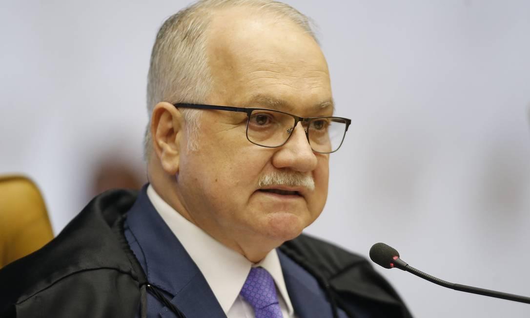 Ministro Edson Fachin divulgou nota nesta segunda-feira Foto: Jorge William/27.11.2019 / Agência O Globo