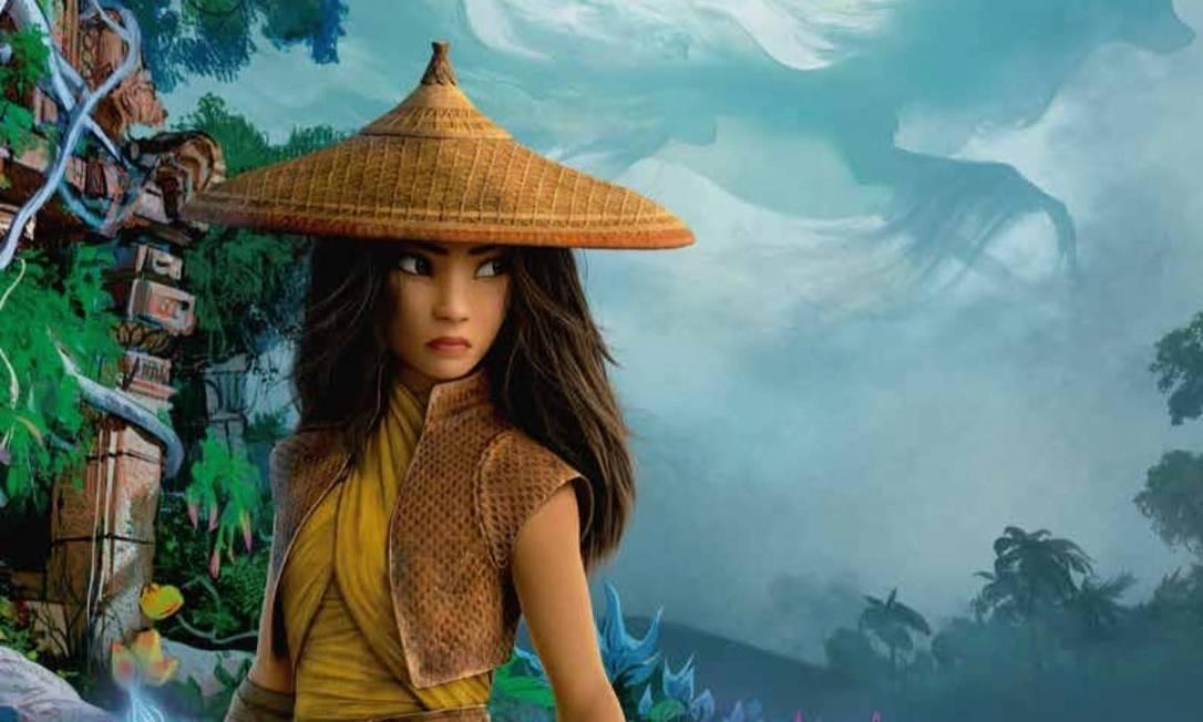 'Raya e o último dragão', nova animação da Disney, será lançada tanto nos cinemas quanto no Disney+ Foto: Divulgação