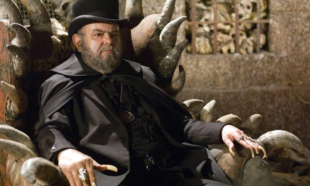 O ator e cineasta José Mojica Marins, mais conhecido como Zé do Caixão, faleceu em 19 de fevereiro, aos 83 anos, por causa de uma broncopneumonia Foto: André Sigwalt /
