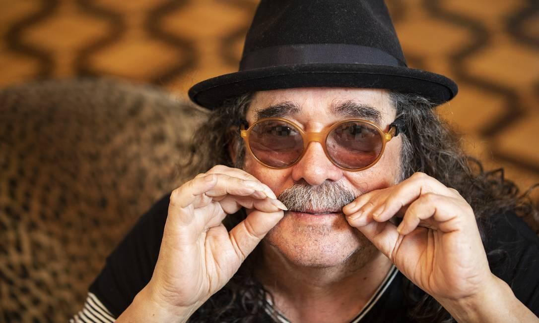 O músico Moraes Moreira, um dos fundadores dos Novos Baianos, morreu aos 72 anos, no dia 13 de abril, por causa de um infarto fulminante Foto: Ana Branco / Agência O Globo