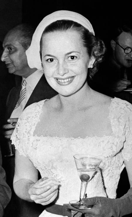 Olivia de Havilland morreu aos 104 anos, no dia 26 de julho. Ela ficou famosa pelo filme 'E o vento levou...' Foto: - / AFP